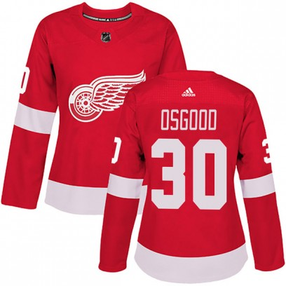 Women's Authentic Detroit Red Wings Chris Osgood Adidas Home Jersey - Red