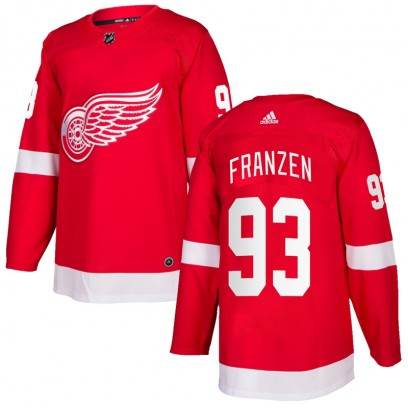 Men's Authentic Detroit Red Wings Johan Franzen Adidas Home Jersey - Red
